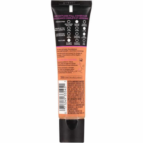 L'Oreal Paris Infallible 310 Classic Tan Total Cover Perspective: back
