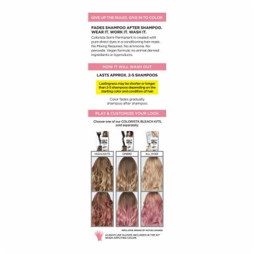 L'Oreal® Paris Colorista 200 Pink Semi-Permanent Hair Color Perspective: back