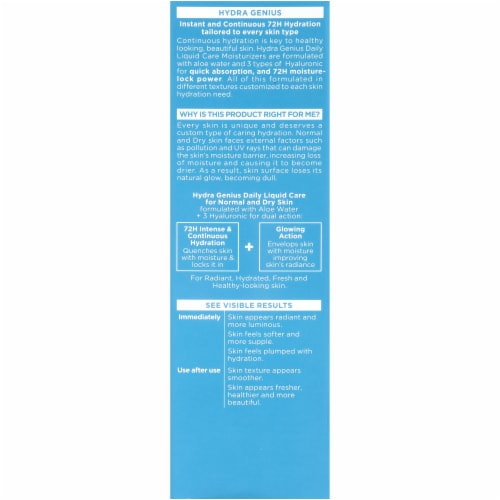 L'Oreal Paris Hydra Genius Daily Liquid Care Moisturizer Perspective: back