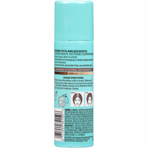 L'Oreal Paris Magic Root Cover Up Temporary Gray Concealer Spray - Light Brown Perspective: back