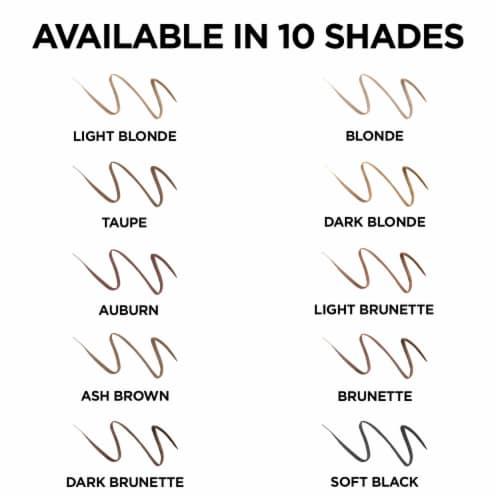 L'Oreal Paris Brow Stylist Definer 392 Light Brunette Ultra-Fine Tip Shaping Pencil Perspective: back
