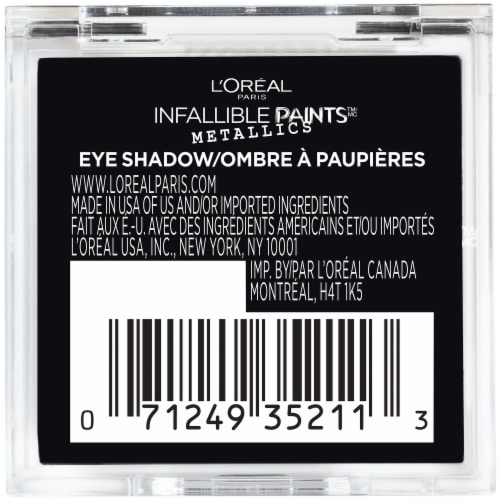 L'Oreal Paris Infallible Paints Metallics 402 Brass Knuckles Eye Shadow Perspective: back