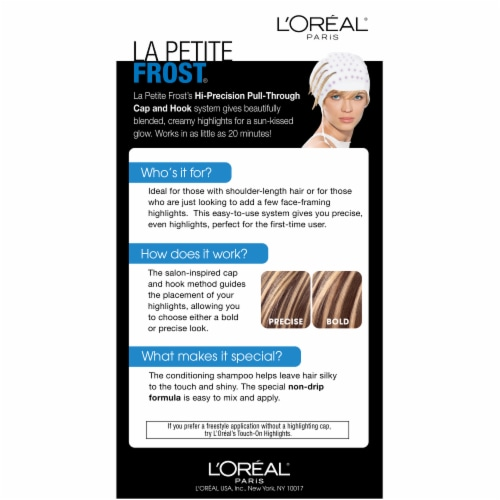 L'Oreal La Petite H75 Frost Chardonnay Hair Color Perspective: back