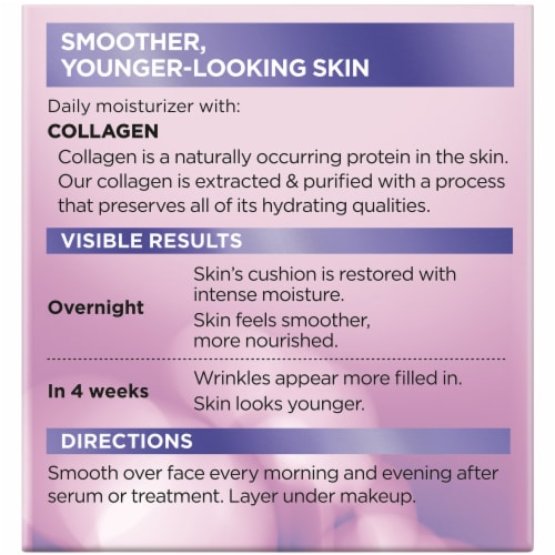 L'Oreal Paris Collagen Moisture Filler Daily Moisturizer Perspective: back
