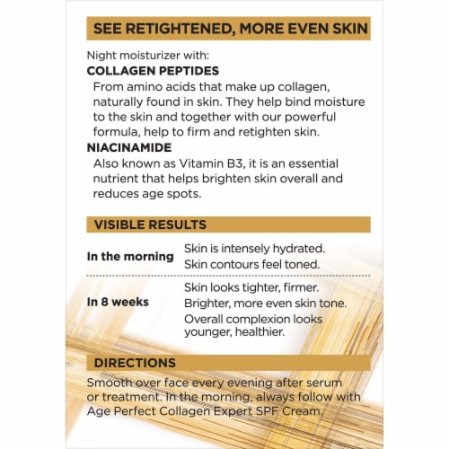L'Oreal® Paris Age Perfect® Collagen Expert Night Moisturizer Perspective: back
