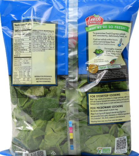 Fresh Express Spinach Perspective: back