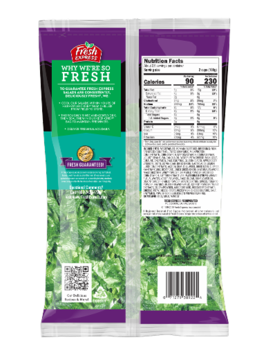 Fresh Express Twisted Greek Caesar Chopped Salad Kit Perspective: back