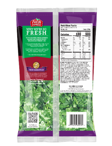 Fresh Express Asian Caesar Chopped Salad Kit Perspective: back