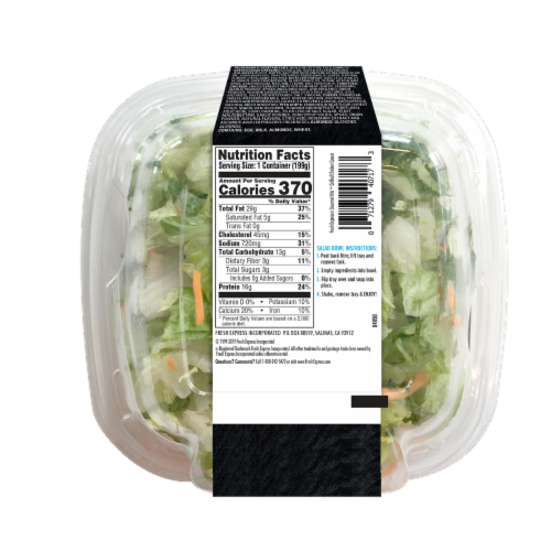 Fresh Express Grilled Chicken Ceasar Gourmet Salad Kit Perspective: back