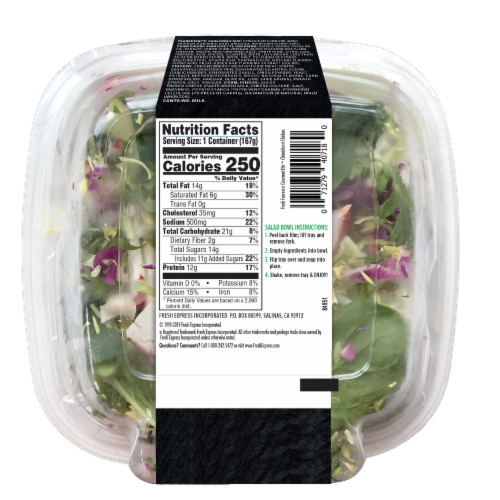 Fresh Express Chimichurri Chicken Gourmet Salad Kit Perspective: back
