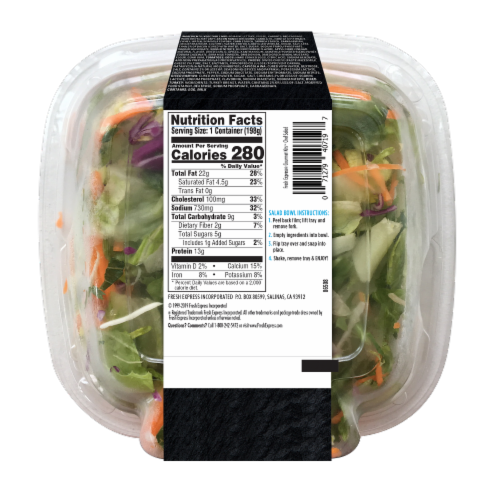 Fresh Express Chef Salad Gourmet Salad Kit Perspective: back