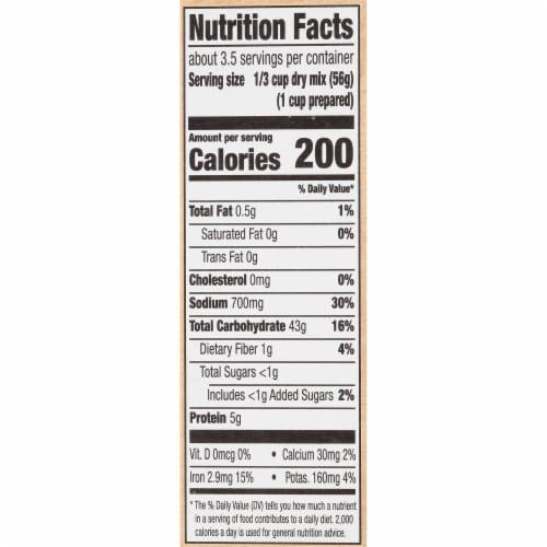 Zatarain's® Yellow Rice Perspective: back
