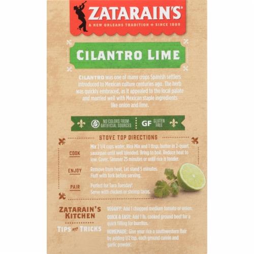 Zatarain's Sides Cilantro Lime Rice Perspective: back