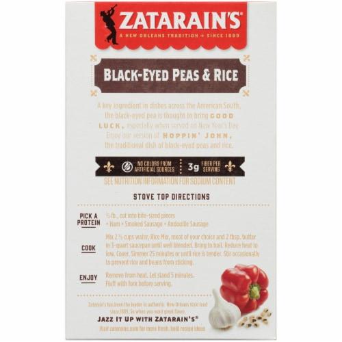 Zatarain's® Black-Eyed Peas & Rice Perspective: back