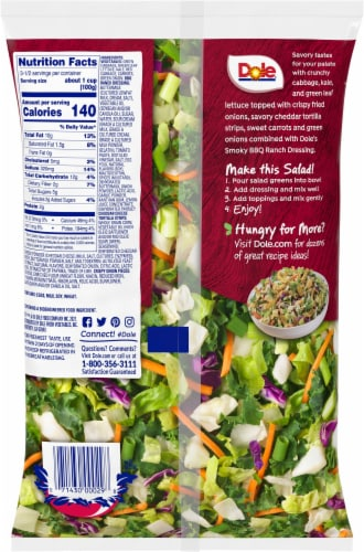 Dole® BBQ Ranch Chopped Salad Kit Perspective: back