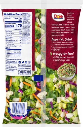 Dole® Sunflower Crunch Chopped Salad Perspective: back