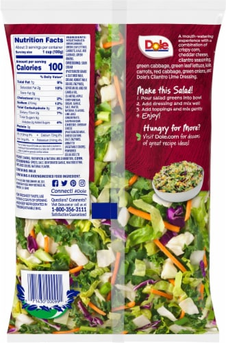 Dole® Fiesta Lime Chopped Salad Kit Perspective: back