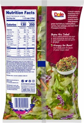 Dole® Chopped Teriyaki Pineapple Salad Kit Perspective: back
