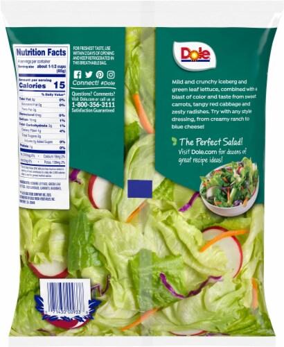 Dole American Blend Salad Blend Perspective: back