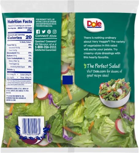 Dole Very Veggie Salad Mx Perspective: back