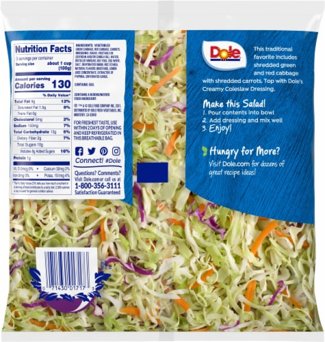 Dole® Creamy Coleslaw Classic Kit Perspective: back