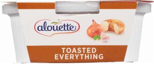 Alouette Toasted Everything with Sea Salt Spreadable Cheese Perspective: back