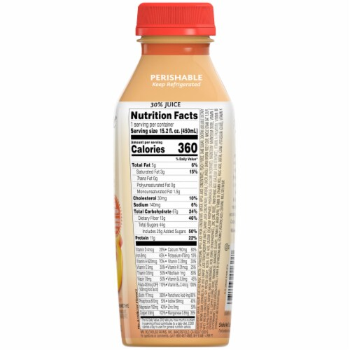Bolthouse® Farms Peach Parfait Breakfast Smoothie Perspective: back
