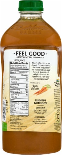 Bolthouse Farms Organics 100% Carrot Juice Perspective: back