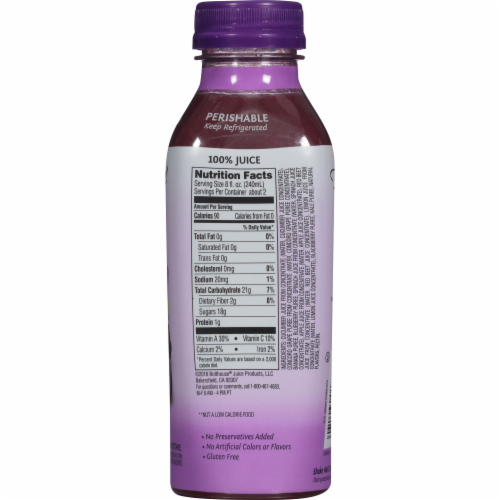 Bolthouse Farms Berries & Green Veggies Juice Smoothe Perspective: back