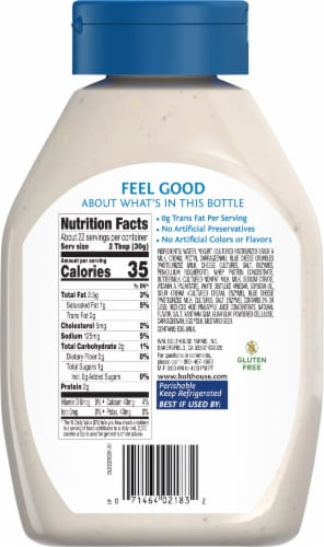 Bolthouse Farms® Blue Cheese Yogurt Dressing Perspective: back