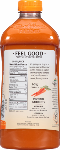 Bolthouse Farms 100% Carrot Juice Perspective: back