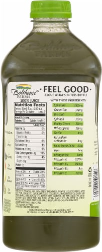 Bolthouse Farms Green Goodness Fruit Juice Smoothie Perspective: back