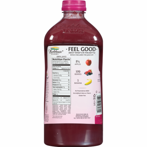 Bolthouse Farms Berry Boost Juice Perspective: back