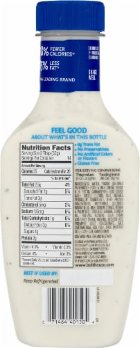 Bolthouse Farms Chunky Blue Cheese Yogurt Salad Dressing Perspective: back