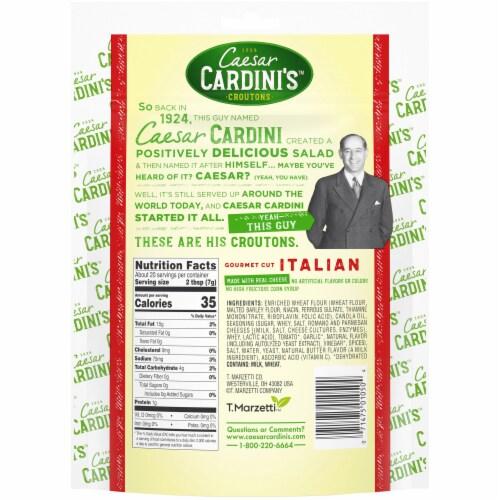 Cardini's Gourmet Cut Italian Croutons Perspective: back