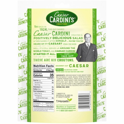 Cardini's Caesar Croutons Perspective: back