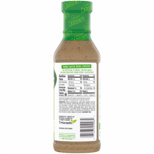 Cardini's Light Greek Vinaigrette Salad Dressing Perspective: back