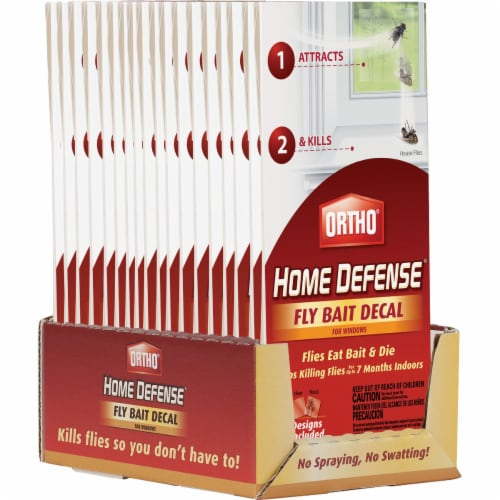 Ortho Home Defense Indoor/Outdoor Fly Bait Decal (2-Pack) 0491010 Perspective: back