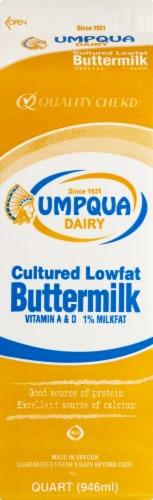 Umpqua Dairy Cultured Lowfat Buttermilk Perspective: back