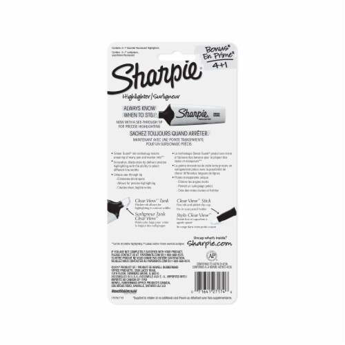 Sharpie® Narrow Chisel Tip Assorted Highlighters Perspective: back