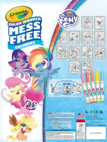 Crayola Color Wonder My Little Pony Glitter Coloring Book & Markers Perspective: back