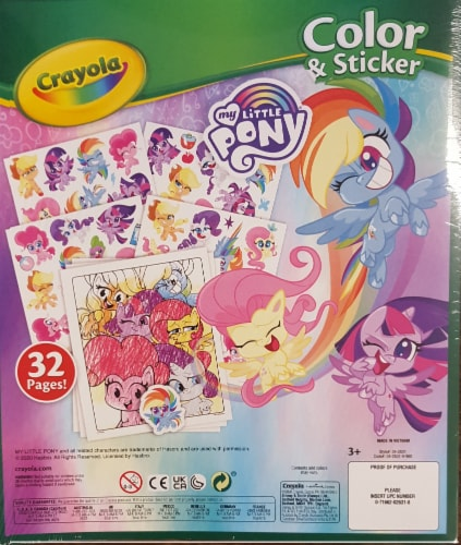 Crayola My Little Pony Color & Sticker Book Perspective: back