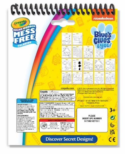 Crayola Color Wonder Blues Clues & You Activity Pad Perspective: back