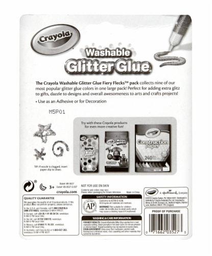 Crayola Washable Glitter Glue Perspective: back