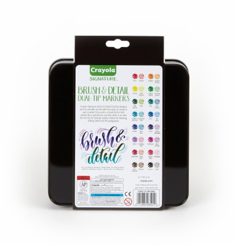 Crayola Signature Brush and Detail Dual-Tip Markers Perspective: back