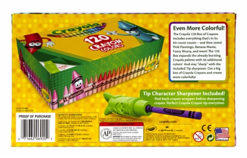 Crayola Crayons With Bonus Sharpener - Assorted Perspective: back