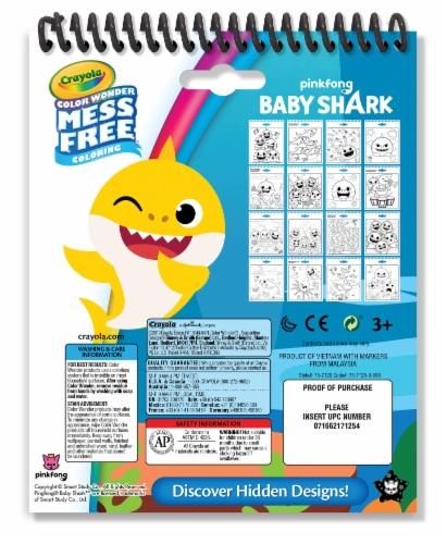 Crayola Color Wonder Mess Free Coloring Baby Shark Activity Pad Perspective: back