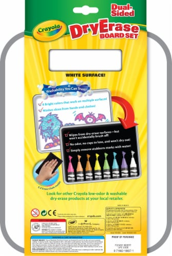 Crayola Dual-Sided Dry Erase Marker & Board Set Perspective: back