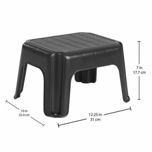 Rubbermaid Durable Plastic Step Stool - Black Perspective: back