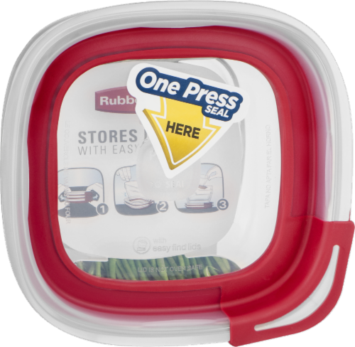 Rubbermaid Container Food Storage Glass Perspective: back